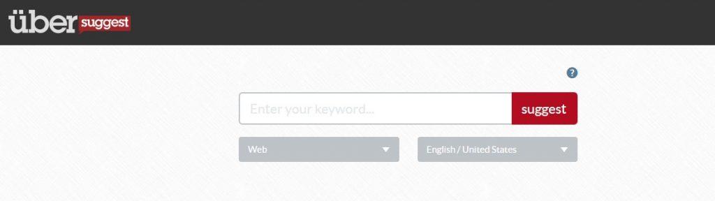 Wyszukiwanie słów kluczowych Ubersuggest